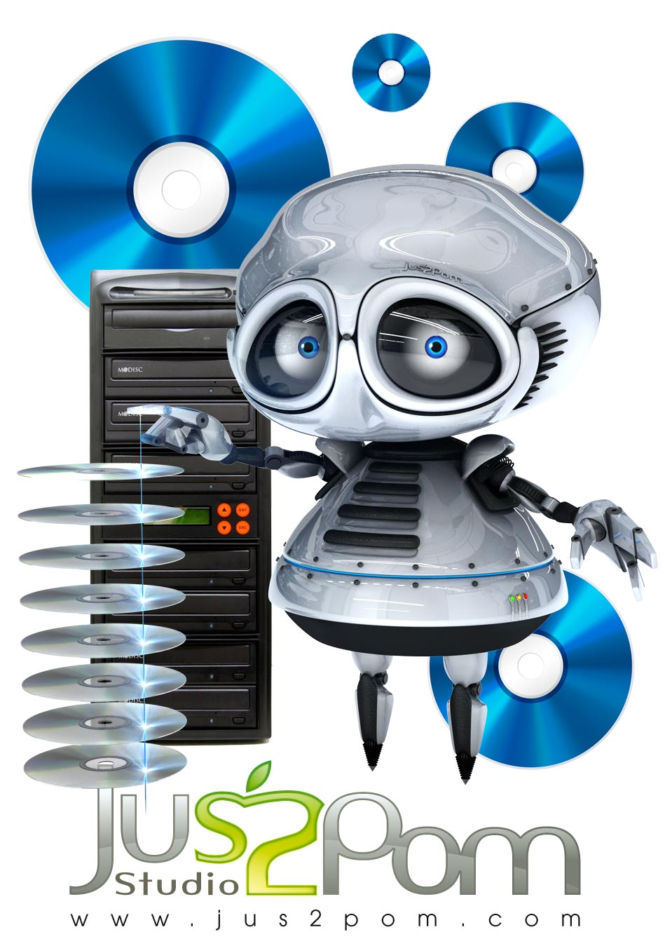jus2pom-robot-duplication-CD-dvd-bluray-v2